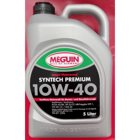 Olej silnikowy Meguin Syntech Premium SAE 10W-40 5L
